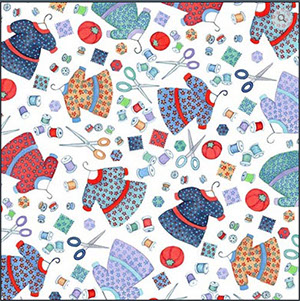 Fabric image used with permission of Barbara Lavallee.