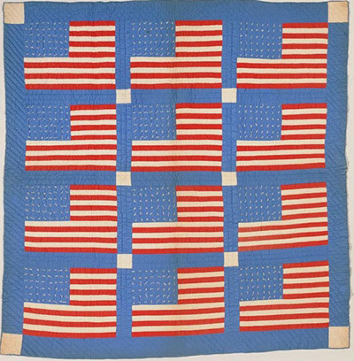 In order to show their patriotism and dedication to the WWII war effort, members of the women's bible class of the Epworth Methodist Church bonded together to create a patriotic quilt. The quilt featured 12 flags. The women who created the quilt also worked hard to sell tickets to a war bond raffle where the quilt would be auctioned off. After the war was won, the women's patriotism lived on though that red, white, and blue quilt. Text and image courtesy of the North Carolina Museum of History.