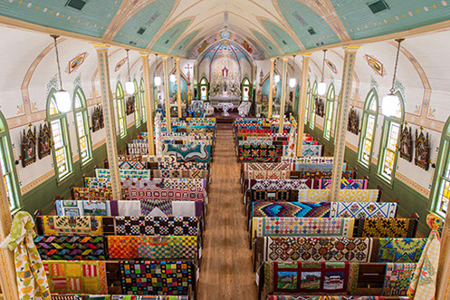 View from the organ chamber at St. Mary's Catholic Church. Photo by Dr. Greg Krenek.