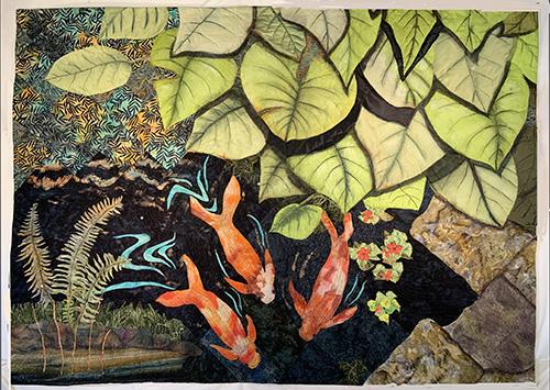 At the Koi Pond by Doris A. Hulse
