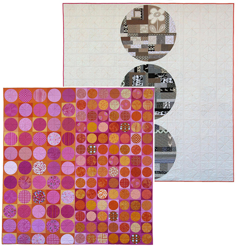 """Days of Summer (front) and Winter Solstice (back) (91"""" x 88"""") by Kathy York."""